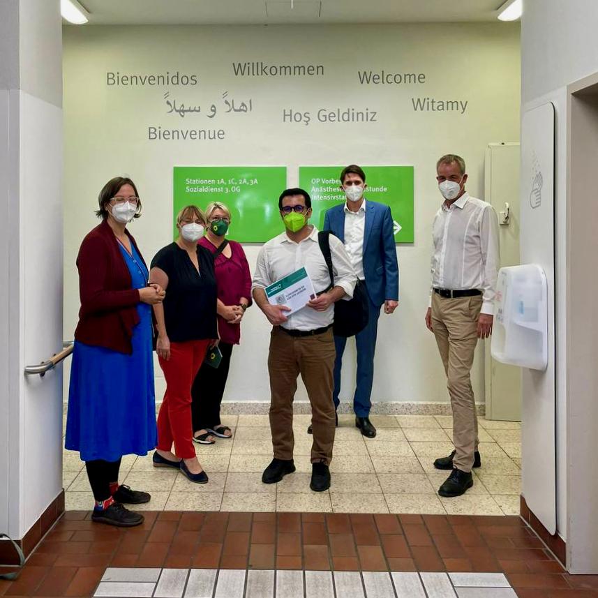 Besuch der Evangelischen Elisabeth Klinik in Tiergarten-Süd am 9. September