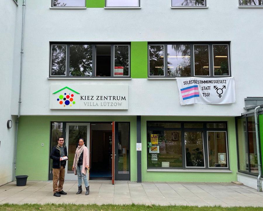 Besuch im Kiez Zentrum Villa Lützow am 21. September 2021